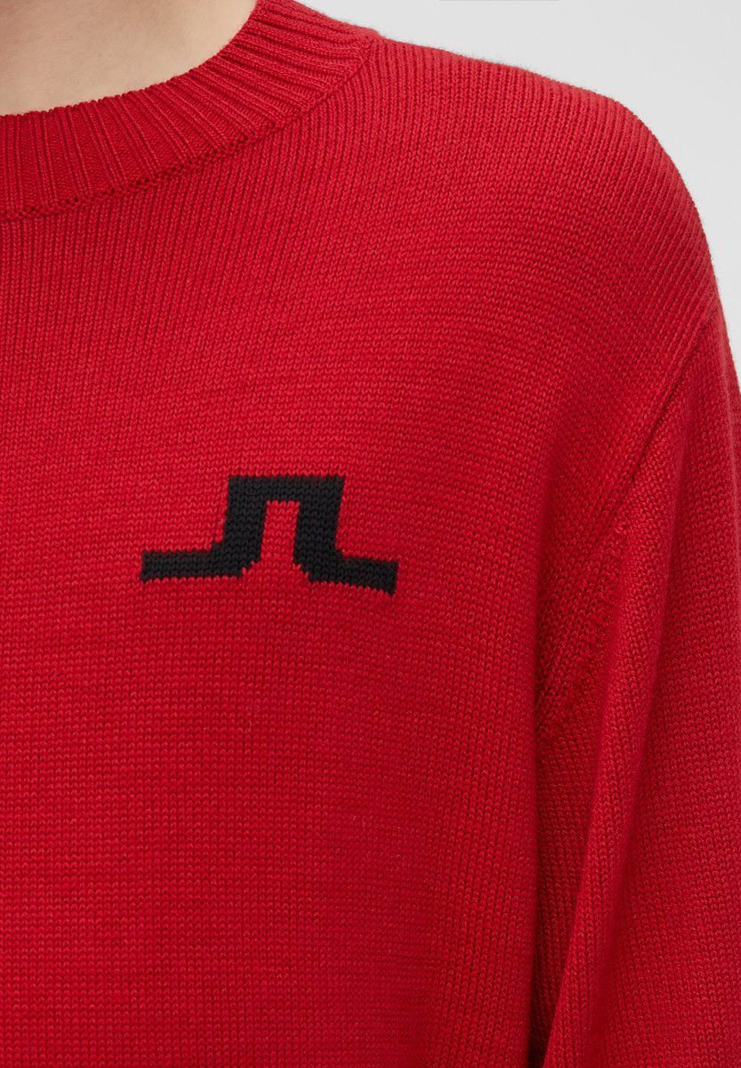 J.lindeberg Beckert - Strickpullover Chili Red