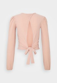 Miss Selfridge - TIE BACK KICKFLARE SET - Trousers - pink - 12