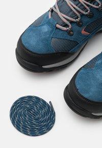Hi-Tec - STORM WP WOMENS - Hiking shoes - blue/light blue/coral - 5