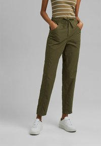 edc by Esprit - TWIST  - Trousers - khaki green - 0