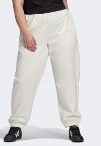 adidas Originals - HIGH RISE CUFFED PANTS - Tracksuit bottoms - white - 0