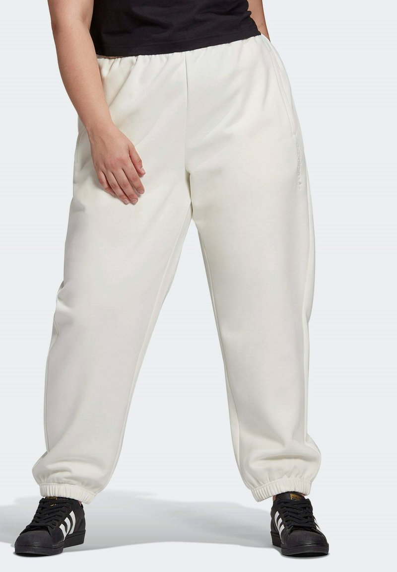 adidas Originals - HIGH RISE CUFFED PANTS - Tracksuit bottoms - white