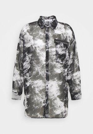SHEER OVERSIZED - Shirt - black