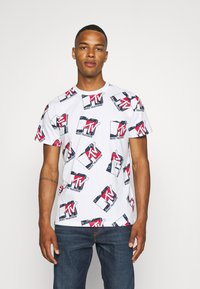Tommy Jeans - ABO MTV TEE UNISEX - T-Shirt print - ivory - 0