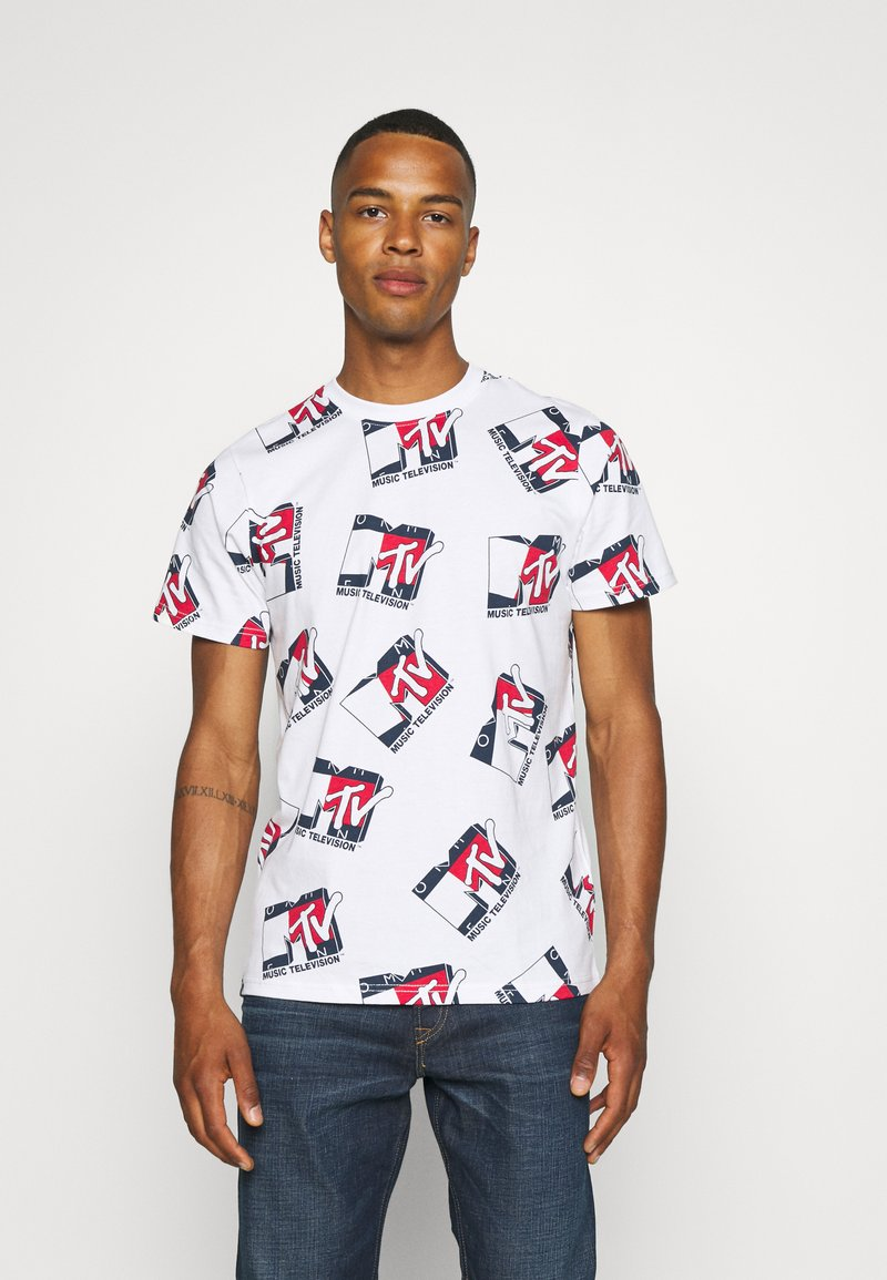 Tommy Jeans - ABO MTV TEE UNISEX - T-Shirt print - ivory
