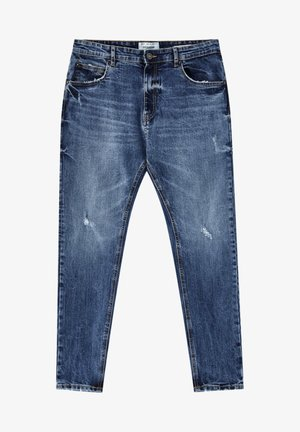 Slim fit jeans - mottled blue