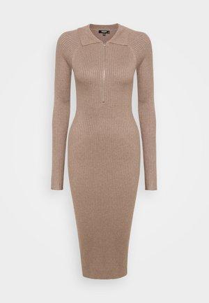 COLLARED MINI DRESS - Shift dress - stone