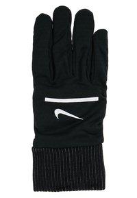 Nike Performance - HEATHERED SPHERE RUNNING GLOVES - Fingervantar - black/silver - 3