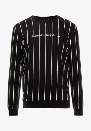 CLIFTON WITH VERTICAL STRIPE - Mikina - black