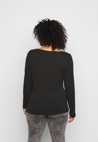 Anna Field Curvy - 2 PACK - Camiseta de manga larga - black - 3