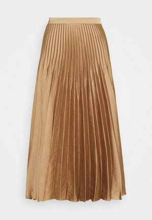 SLFHARMONY MIDI SKIRT - Pleated skirt - tigers eye