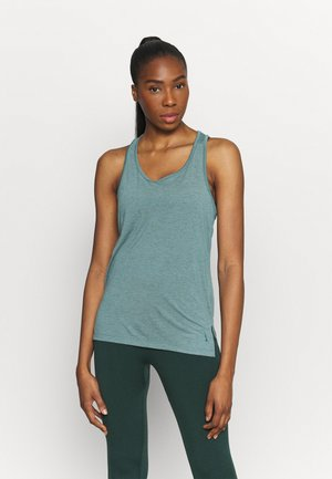 YOGA LAYER TANK - Sports shirt - light pumice/dark teal green