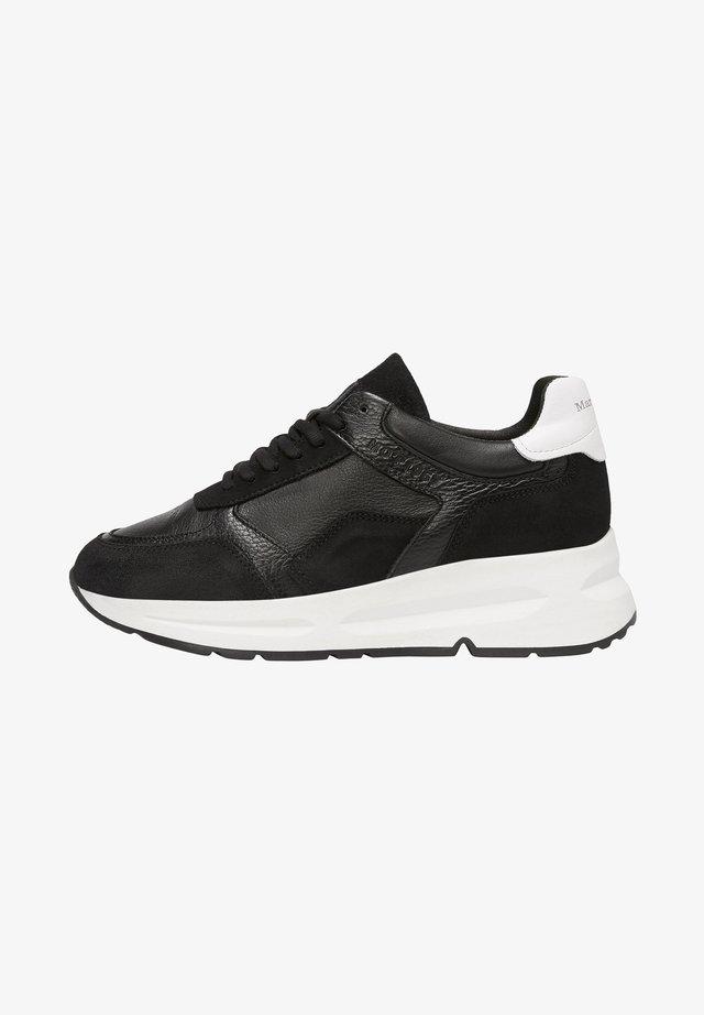 AUS HOCHWERTIGEM MATERIAL-MIX - Sneakers laag - black combi
