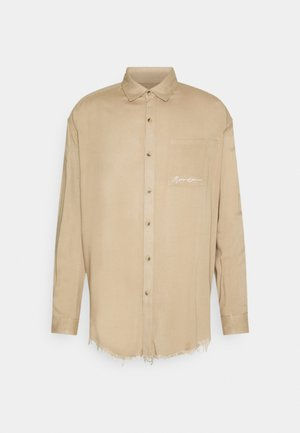 FRAYED PLAIN UNISEX - Shirt - light brown