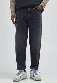 PULL&BEAR - Straight leg -farkut - mottled dark grey - 0