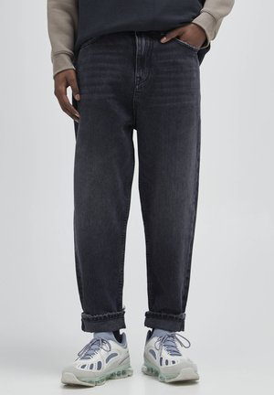 Straight leg jeans - mottled dark grey