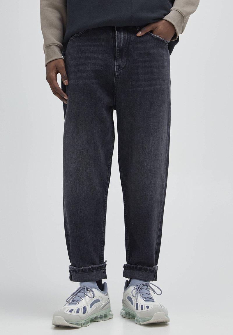 PULL&BEAR - Straight leg -farkut - mottled dark grey