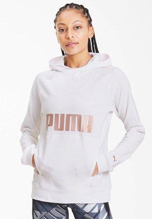 PUMA DAMEN SWEATSHIRT - Felpa con cappuccio - weiss (100)