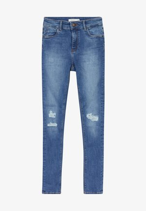 NKFPOLLY  - Vaqueros slim fit - medium blue denim