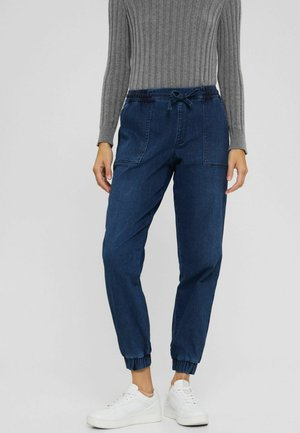 Trousers - blue dark washed