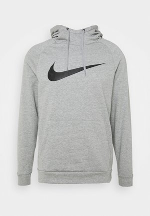 Hoodie - dark grey heather/black