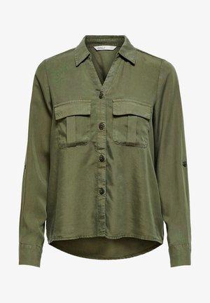 Button-down blouse - grape leaf