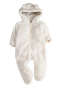 Next - ECRU COSY FLEECE BEAR PRAMSUIT (0MTHS-2YRS) - Overal - off-white - 0