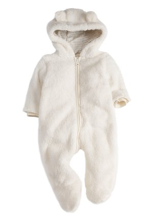 ECRU COSY FLEECE BEAR PRAMSUIT (0MTHS-2YRS) - Overal - off-white