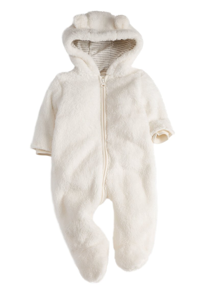 Next - ECRU COSY FLEECE BEAR PRAMSUIT (0MTHS-2YRS) - Overal - off-white