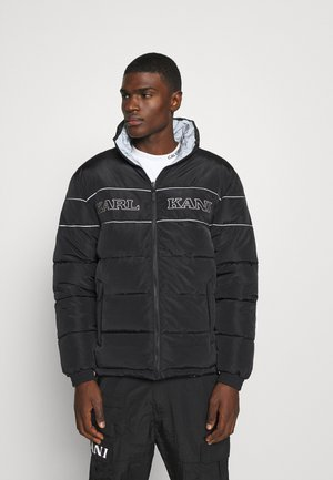 RETRO REVERSIBLE PUFFER JACKET - Zimní bunda - black
