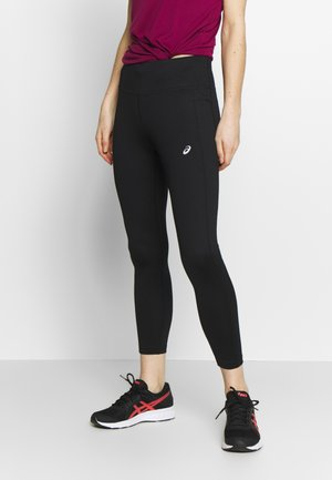 KATAKANA CROP TIGHT - Tights - performance black