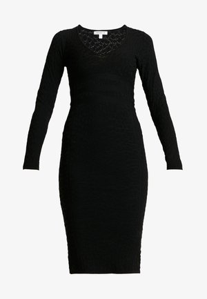 DEEP MIDI DRESS - Kotelomekko - black