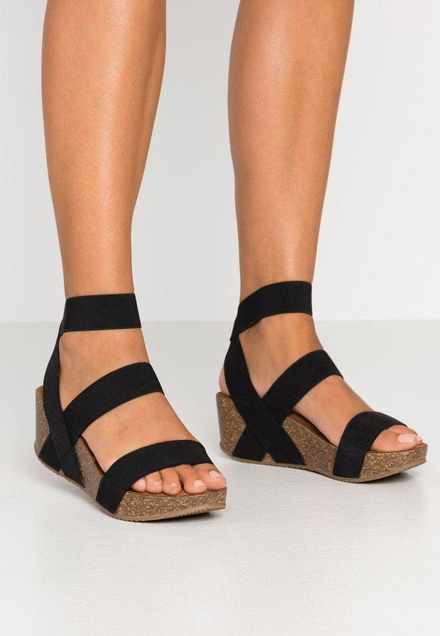 ZOEY - Platform sandals - black