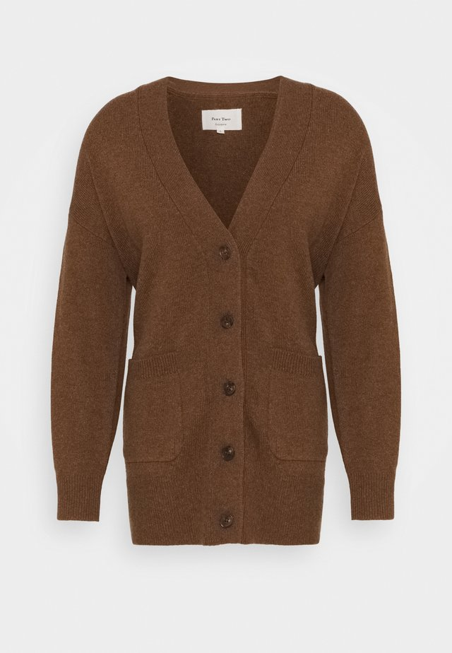 ELSEBETH - Cardigan - soft brown melange