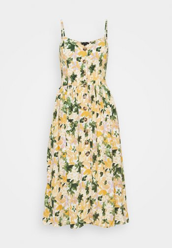 BUTTON DRESS - Day dress - multi-coloured/light yellow