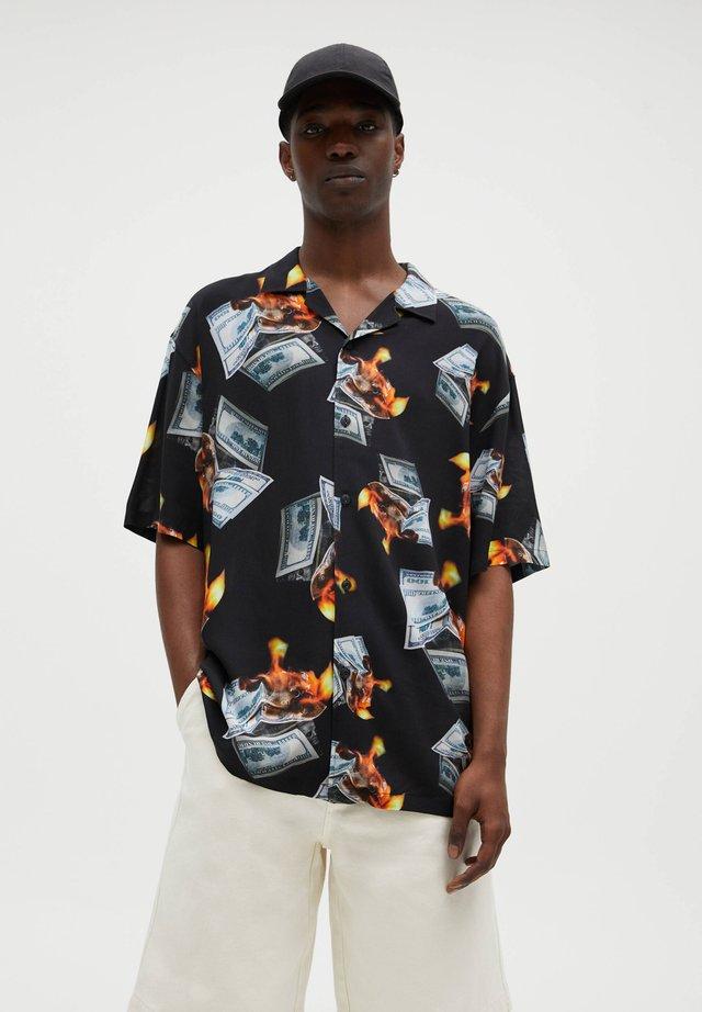 MIT PRINT YOUNG THUG - Košile - black