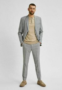 Selected Homme - Stoffhose - light grey - 1