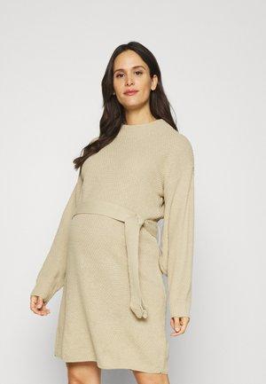 TIE WAIST JUMPER DRESS - Jumper dress - light stone
