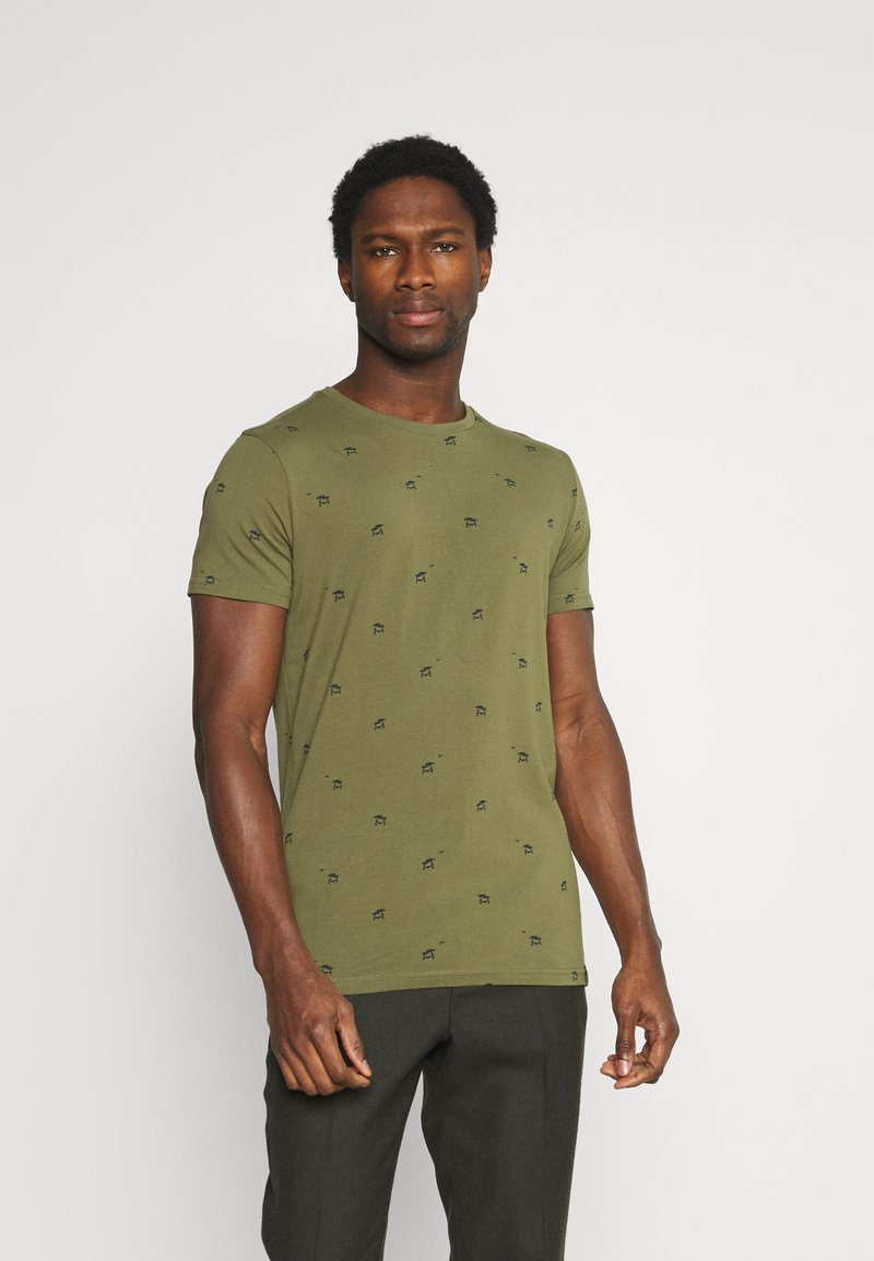 Petrol Industries - T-shirt med print - dusty army
