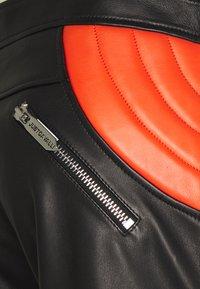 Just Cavalli - PANTALONE - Leather trousers - black/white - 3