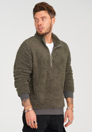 Fleece jumper - khaki