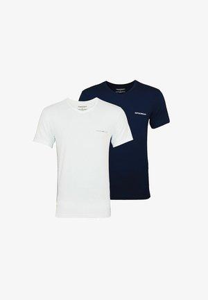 2 PACK  - Basic T-shirt - white/dark blue