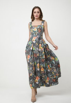 RIMINA - Maxi dress - braun/gelb