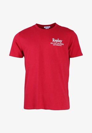 Print T-shirt - orange - rot