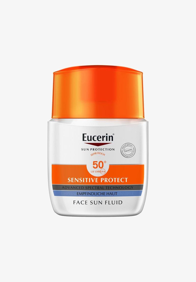 Eucerin - SONNENSCHUTZ SUN SENSITIVE PROTECT FACE FLUID LSF 50+ - Sun protection - -