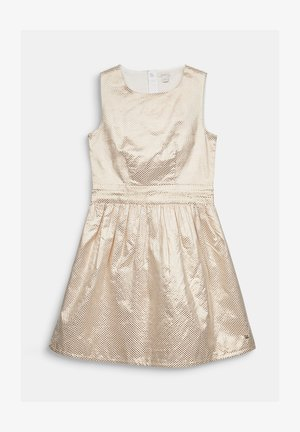 GOLDENES JACQUARD-KLEID IN A-LINIE - Day dress - light gold