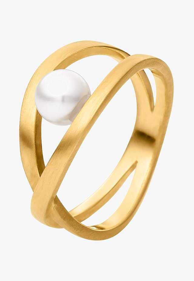 MIT PERLE - Bague - gold coloured