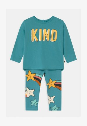 KIND SET UNISEX - Leggings - Trousers - dusty turqoise