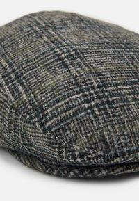 Burton Menswear London - POW CHECK FLAT - Cap - mid grey - 3