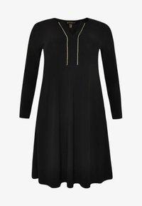Yoek - EMBELLISHED RIBBON DETAIL - Day dress - black - 3